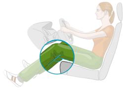 Sitzeinstellung im Auto: Knie