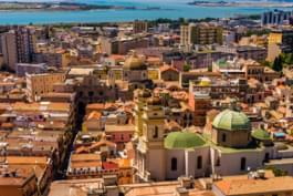 Cagliari von oben