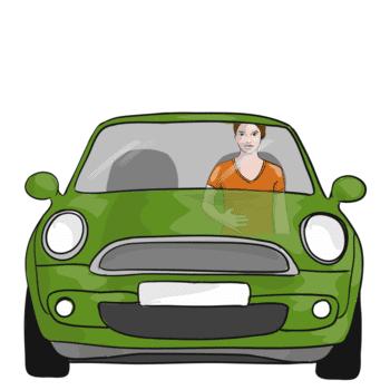 Bauchatmung im Auto