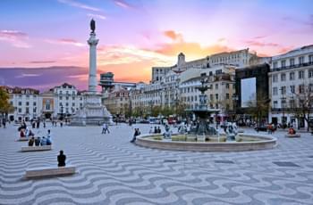 Rossio Square in Lissabon