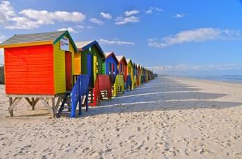 Muizenberg – Bunte Strandhäuser in Südafrika