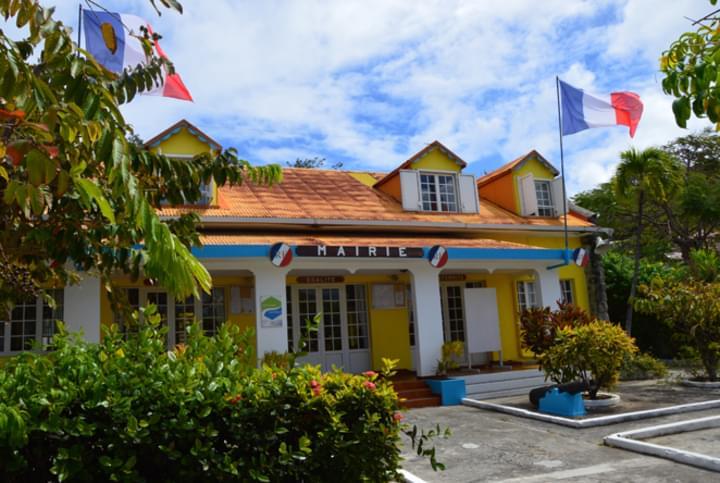 Ein Rathaus auf Guadeloupe