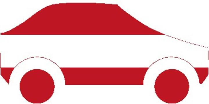Auto als Österreich Flagge