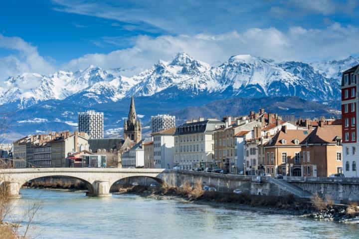 Grenoble an der Route Napoleon
