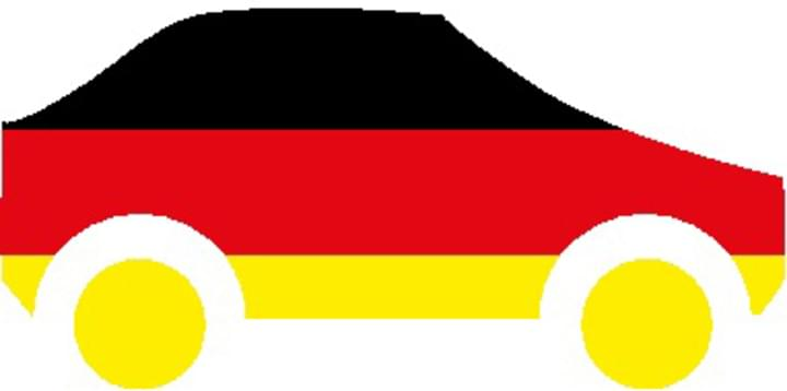 Auto als Deutschland Flagge