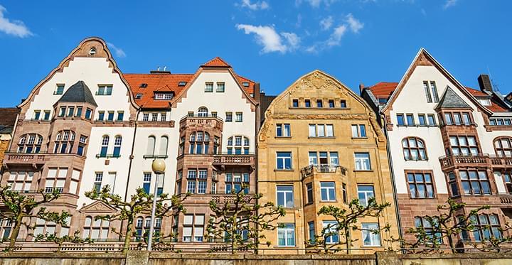 Häuser in der Altstadt von Düsseldorf