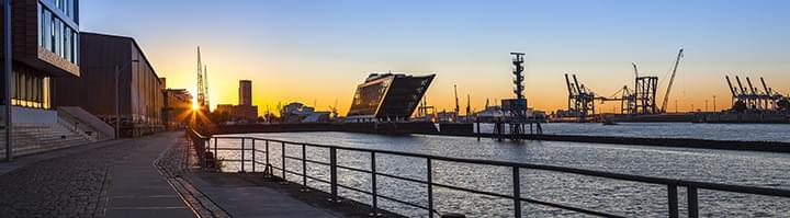 Panorama Hafen Hamburg