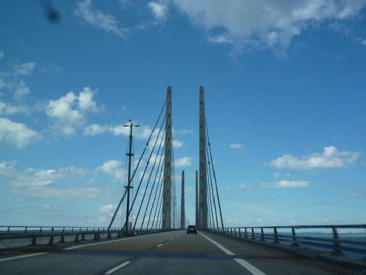 Unterwegs auf der Öresundbrücke