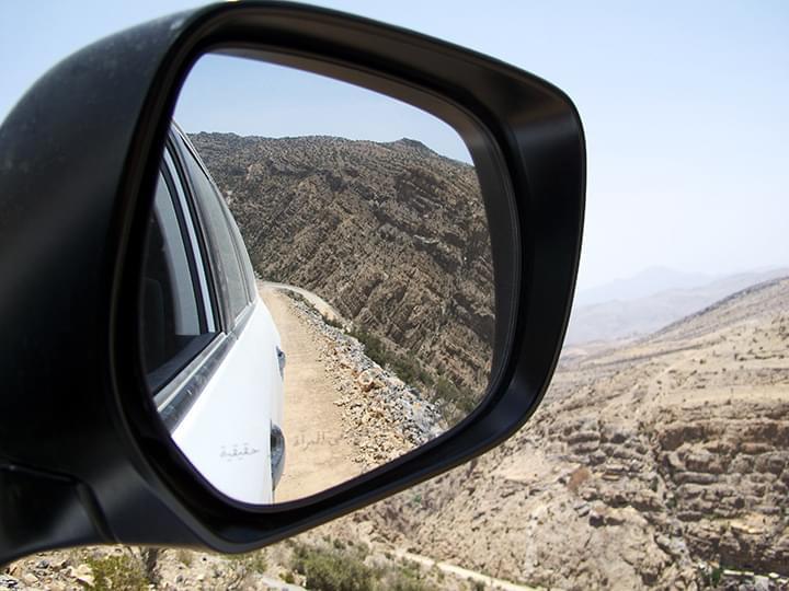 Fahrt durch das Jebel Akhdar Gebirge