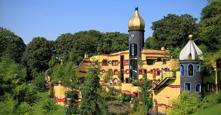 Hundertwasser Haus im Gruga Park Essen