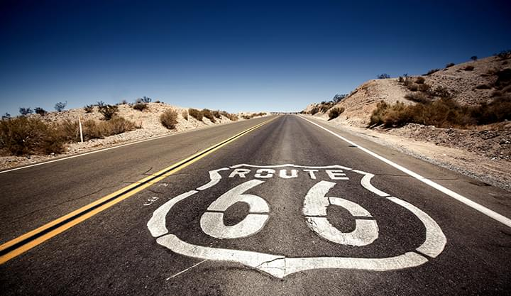 Met een huurauto langs Route 66