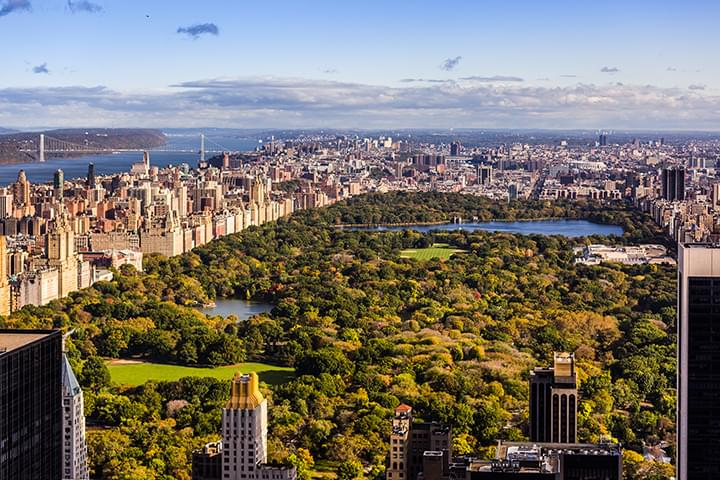 View of Central Park in New York