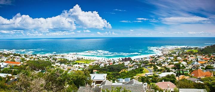 Vista a la playa de Ciudad del Cabo Sudáfrica