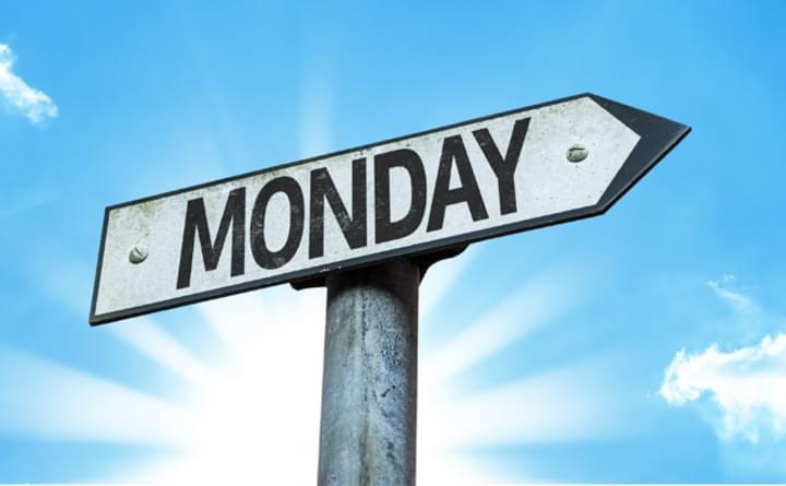 Schild mit Monday