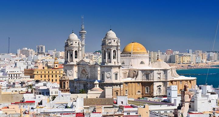 Gezicht op Cádiz