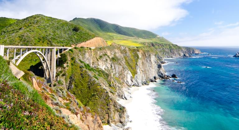 Bixby Bridge Highway 1 in Kalifornien USA - Mietwagen Playa Vista